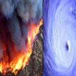 Fuegos y huracán