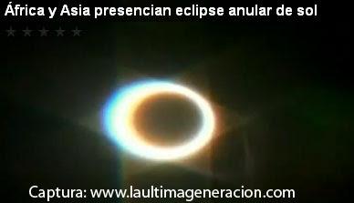 Estrella de David formada en eclipse