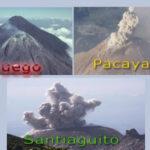 Tres volcanes se activan en Guatemala