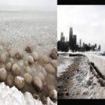 Caen enormes bolas de hielo sobre lago por Polar Vortex